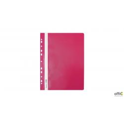 Skoroszyt A4 twardy wpinany BIURFOL różowy (10szt) SH-01-10