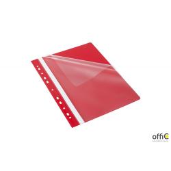 Skoroszyt z perforacją EVO, A4 czerwony  BANTEX BUDGET 400076707