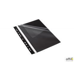 Skoroszyt z perforacją EVO, A4 czarny  BANTEX BUDGET 400076708