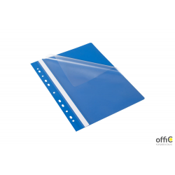 Skoroszyt z perforacją EVO, A4 niebieski BANTEX BUDGET 400076709
