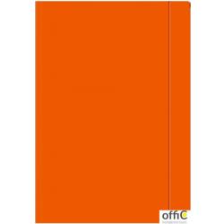 Teczka z gumką A4+ pomarańczowa 3082 INTERDRUK