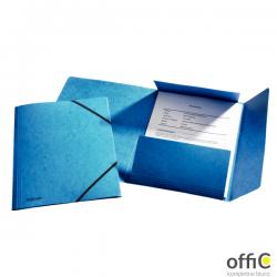 Teczka kartonowa z gumkami ESSELTE niebieska 26595