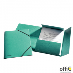 Teczka kartonowa z gumkami ESSELTE zielona 26596