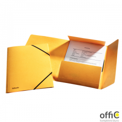 Teczka kartonowa z gumkami ESSELTE żółty 26591