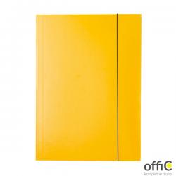 Teczka lakierowana z gumką A4 żółty ESSELTE 13438