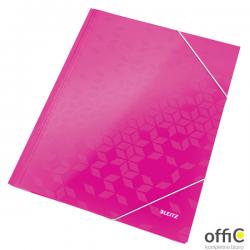 Teczka kartonowa z gumką LEITZ różowy WOW 39820023