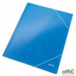 Teczka kartonowa z gumką LEITZ niebieska WOW 39820036