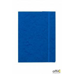 Teczka z gumką prostą DOTTS A4 preszpan niebieska 390g