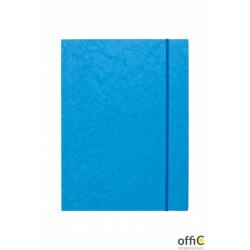 Teczka z gumką prostą DOTTS A4 preszpan jasna niebieska 390g