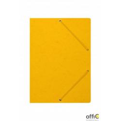 Teczka z gumką rogi DOTTS A4 preszpan żółta 390g