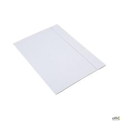 Teczka A4 z gumką biała INTERDRUK TEGUFB 300g