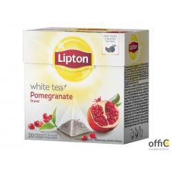 Herbata LIPTON PIRAMID WHITE TEA 20t. biała granat