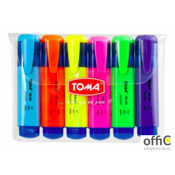 Zakreślacz MISTRAL, szeroka końcówka 1-5mm, mix 6 kolorów TO-334 Toma