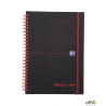 "Kołonotatnik A5 70k linie PP OXFORD Black""n""red 400047655"