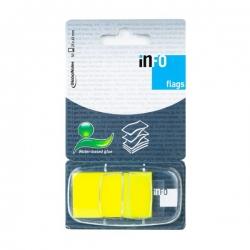 Zakładka samoprzylepna INFO FLAGS w podajniku 25x43mm/50 kartek, żółta DALPO