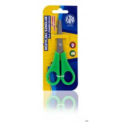 Nożyczki szkolne Astra z podziałką dla praworęcznych - blister, 407118001