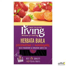 Herbata IRVING poziomkowa z mandarynką 20 kopert 1,5g biała