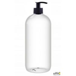 Butelka z dozownikiem do płynu/żelu/mydła z pompką czarno-czarną 750ml