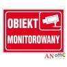 Naklejka informacyjna obiekt monitor/BHP Z-R111 F 150X210