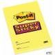 Bloczki 3M POST-IT 660-S 102x152mm żółty 75k linia Super Sticky 510093832