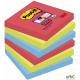 Bloczki 3M POST-IT 76x76mm BORA BORA Super Sticky 6x90kartek 70005253458