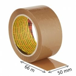 Taśma pakowa do wysyłek SCOTCH HOT-MELT (371), 50mm, 66m, brązowa
