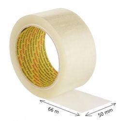 Taśma pakowa do wysyłek SCOTCH HOT-MELT (371), 50mm, 66m, transparentna