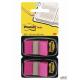 Zakładki indeksujące POST-IT_ (680-BP2EU), PP, 25,4x43,2mm, 2x50 kart., jaskraworóżowe