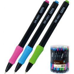 Długopis z niebieskim wkładem GRAND GR-5801 Obudowa czarna 160-1985 GRAND