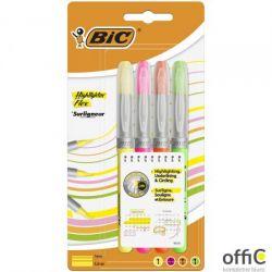 Zakreślacze BIC Highlighter Flex mix AST Etui 4szt, 950470