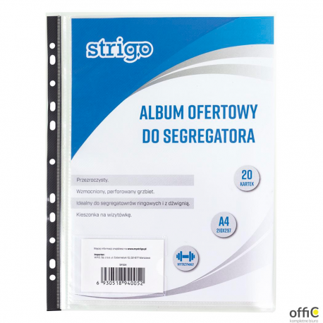 Album ofertowy PP A4 20 koszulek z perforacją SF024 STRIGO