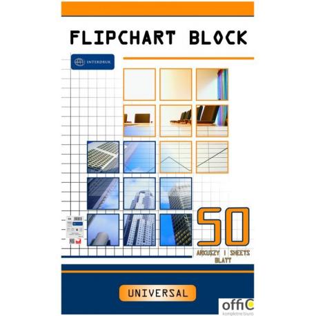 Blok do flipcharta 50x100x64  kratka INTERDRUK