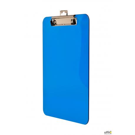 Deska A4 z klipem transparentna niebieska BD641-N TETIS