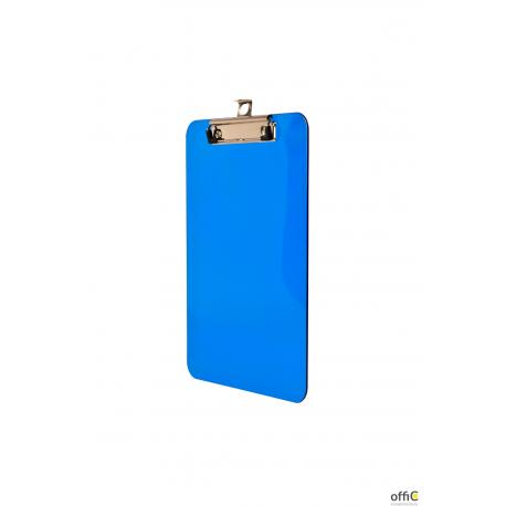Deska A5 z klipem transparentna niebieska BD640-N TETIS