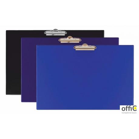 Deska klip A4 zamek na długim boku pozioma niebieska KH-20-01 BIURFOL