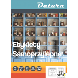 Etykieta samoprzylepna DATURA A4 (100ark) 210x297mm (1 etyk/arkuszu)