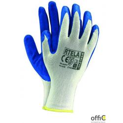 Rękawice powlekane biało-niebieski rozmiar 10 RTELA