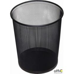 Kosz biurowy DATURA 12L siatka czarny 266x218x280mm
