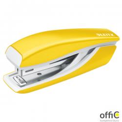 Zszywacz Mini metalowy Leitz WOW, żółty, 10 lat gwarancji, 10 kartek 55281016