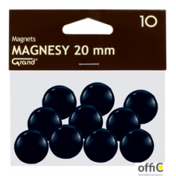Magnesy 20mm GRAND czarne    (10)  130-1687