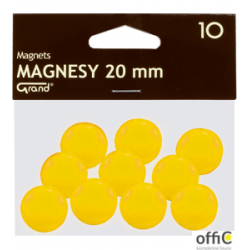 Magnesy 20mm GRAND żółte     (10)  130-1691