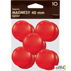 Magnesy 40mm GRAND czerwone  (10)  130-1701