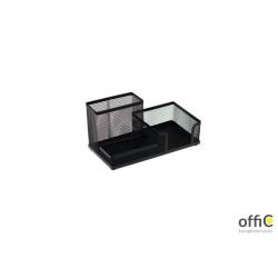 Przybornik na biurko DOTTS siatka czarny 205x103x98mm
